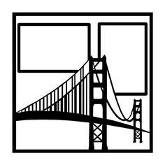 Golden Gate Bridge Scrapbooking Die Cut Overlay by NotJustScrap, $3.50