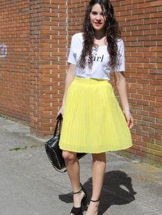 ccpetiterobenoire Outfit   Primavera 2013. Combinar Falda Amarilla Mango, Cómo vestirse y combinar según ccpetiterobenoire el 25-3-2013