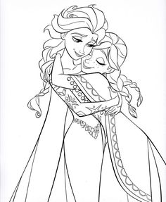 "Photo of Walt Disney Coloring Pages - Queen Elsa & Princess Anna for fans of Walt Disney Characters. Walt Disney Coloring Page of Queen Elsa and Princess Anna from ""Frozen"" Frozen Coloring Sheets, Frozen Coloring Pages, Disney Princess Coloring Pages, Disney Princess Colors, Disney Colors, Princess Anna, Princess Coloring Pages Printables, Princess Coloring Sheets, Princess Games"