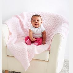Loops & Threads® Snuggly Wuggly® Big Baby Blocks Knit Blanket
