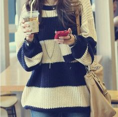 Obsessed with oversized sweaters.
