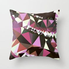 This listing is for an indoor or outdoor multicolored triangle throw pillow cover. The indoor pillow cover is made from spun polyester poplin Outdoor Pillow Covers, Decorative Pillow Covers, Throw Pillow Covers, Patio Pillows, Outdoor Throw Pillows, Brown Art, Blue Brown, Geometric Throws, Designer Pillow