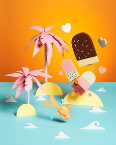 Tropical Island by Adrian & Gidi, via Behance