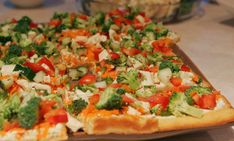 Veggie pizza appetizer, minus Ranch dressing mix