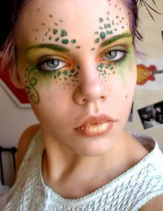 "midsummer night's dream fairies makeup - change lips, but ""freckles"" nice"