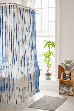 Shop Magical Thinking Dye Streak Shower Curtain at Urban Outfitters today. Kids Room Curtains, Diy Curtains, Tie Dye Curtains, Delft, Decoracion Low Cost, Estilo Hippie, Magical Thinking, Decorating Small Spaces, Bathroom Shower Curtains