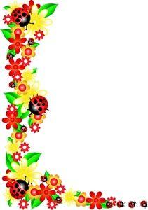 Yellow Floral Border | Floral Clip Art Images Floral Stock Photos  Clipart Floral Pictures