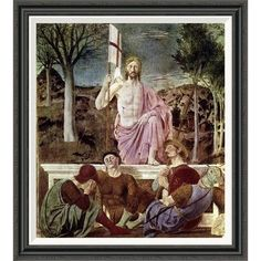 Global Gallery 'Resurrection' by Piero della Francesca Framed Painting Print Size: