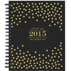 2015 Paper Source Gold Foil Confetti Weekly Planner