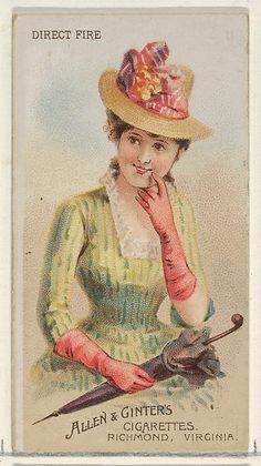 Allen & Ginter | Direct Fire, from the Parasol Drills series (N18) for Allen & Ginter Cigarettes Brands | The Met