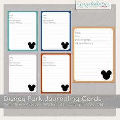 A Vegas Girl at Heart: Freebie: Disney Journaling Cards Disney Diy, Disney Dream, Disney Love, Disney Crafts, Disney Magic, Disneyland Trip, Disney Vacations, Disney Trips, Disney Travel