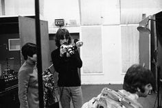 25 September, 1967  George during a recording session for the song 'The Fool On The Hill' at EMI Studios, Studio 2, Abbey Road, London Photo:  Shinko Music (presumably Koh Hasebe)