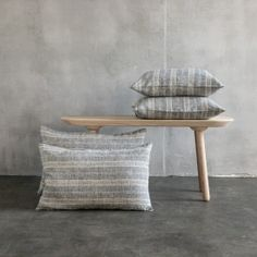 Linen Cushion Cover Black Natural Brittany - LinenMe