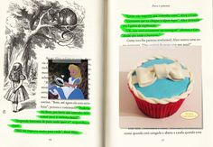 Cupcake Alice no País das Maravilhas (Alice). Beijos Açucarados