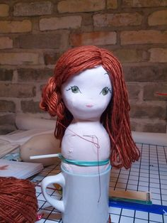 Cinza Gables: Fazendo a boneca Continuação - cabelo de boneca