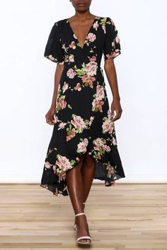 Gina Louise Floral Wrap Dress