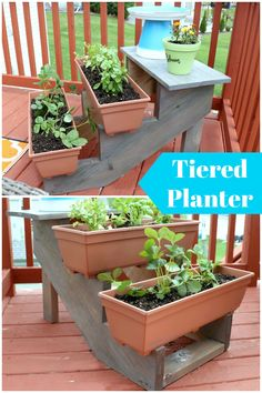 How To Build An Outdoor Tiered Planter