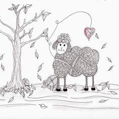 Do Ewe Love Fall, newest sheep in the flock by Christianne Gerstner, available on Redbubble.