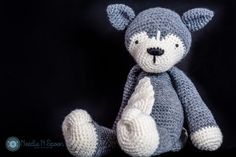 Wolf plush, wolf softie, amigurumi, baby toy, baby shower gift, crochet grey wolf, husky plush