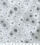 Keepsake Calico Fabric-Poppy Stitch White