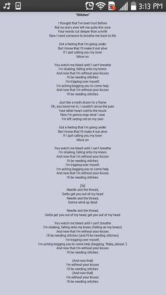 Shawn's new song Stitches lyrics!