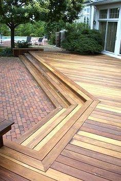 Ipe Deck with Ipe Bench, Hardyston NJ