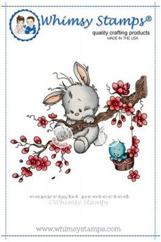 "Whimsy Stamps/Wee Stamps ""Springtime"" Rubber Stamp *NEW* – Quick Creations"