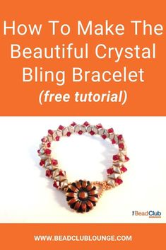 Use DiamonDuo beads to create the simple yet stunning beaded bracelet. A beautiful button clasp is the focal point of this beadwoven piece of jewelry. Beading Patterns Free, Beaded Bracelet Patterns, Beading Tutorials, Bead Patterns, Seed Bead Necklace, Seed Bead Bracelets, Seed Beads, Bead Earrings, Beads