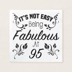 95th Birthday Table Napkins
