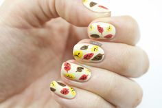 Fabulous Fall Nail Tutorial for Divine Caroline - Nailed It | The Nail Art Blog