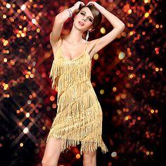 New Style Dancer Shower Tassel Slip Latin Dress Women's Costume - USD $ 27.99