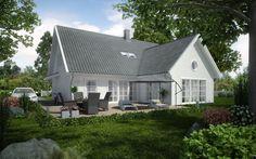 Vårgårdahus - Villa Sjövik DRÖMHUSET, fast andra fönster.