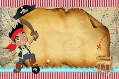 Convite para Imprimir Jake e os Piratas