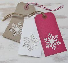 six handmade christmas snowflake gift tags by yatris | notonthehighstreet.com