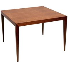 Square Side Table in Brazilian Rosewood by Severin Hansen   1stdibs.com