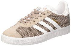 adidas Gazelle W, Sneakers Basses Femme, Gris (Vapgre/Ftwwht/Vapgre), 37 1/3 EU