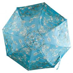 Handy and foldable small umbrella, with all-over print of Van Gogh's Almond blossom. Incl. sleeve.