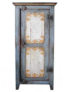 Armário Pintado de Madeira de Demolição