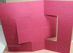 Tuto / Carte swing Carte Swing, Diy Swing, Swing Card, Pop Up, Fancy Fold Cards, All Paper, Kirigami, Embossing Folder, Junk Journal