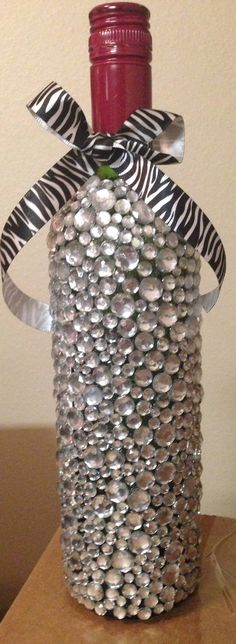 1000 images about wine bottle decorating ideas on for Empty bottle decoration ideas