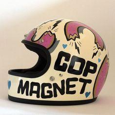 I love this helmet getting something custom for my next bike......full face vintage custom art