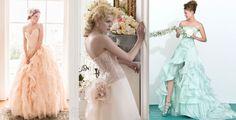 #wedding #dress #bride #matrimonio #vestito #sposa #colored #spring