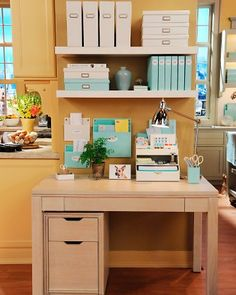 Desks and File Cabinets  Turn your home office area into a productive workspace that's simply beautiful. Our collection is clean and streamlined -- the perfect way to start organizing from the desk up.
