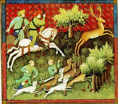 Renaissance and Medieval hunting; the hunting dogs of the period.
