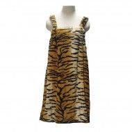 Wedding gifts that part of profit goes to our charity! Fleece Bath Wrap in Tiger Print