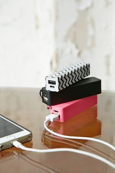 New in: Portable Phone Chargers #urbanoutfitters #festival #essential.  Don't forget your portable chargers.  You will need these because finding an outlet can be impossible.