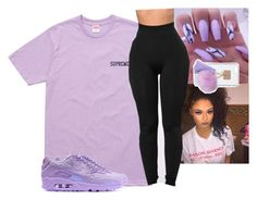 """""""Ehh"""" by kiatheplugg ❤ liked on Polyvore featuring NIKE and Ashlyn'd"""