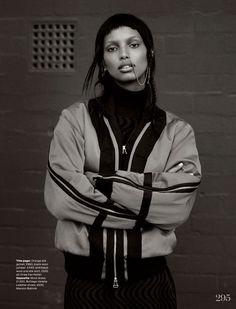 Jasmine Tookes by Thomas Whiteside for UK Elle September 2014