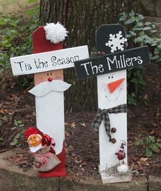 Personalized Christmas/Winter Santa/ Snowman by southernchicbyle