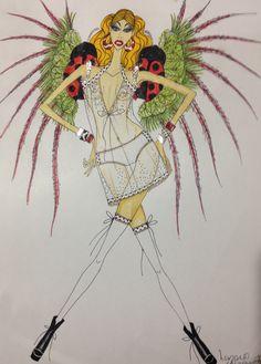"""Figurino:""""Victoria Secrets Style """"( lingerie)"""